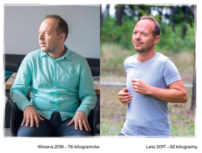 metamorfoza wagi isylwetki macieja kozakiewicza związana z podjeciem slow joggingu